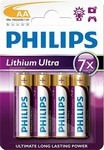 Philips baterie AA Ultra lithium 4ks FR6LB4A/10