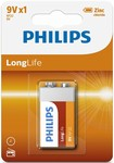 Philips baterie 9V LongLife 1ks 6F22L1B/10