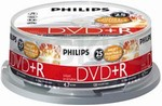 Philips DVD+R 4,7 GB potisknutelné 25box