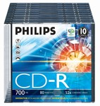 Philips CD-R 700MB slim 52x 80min.