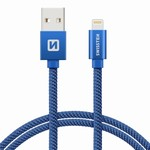 SWISSTEN kabel USB/lightning 1,2m modrý iPhone