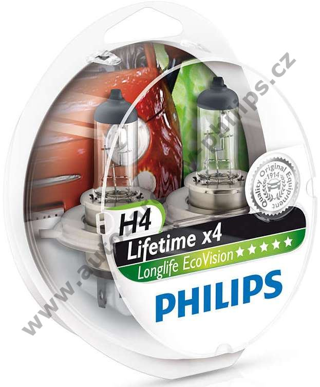 Philips LongLife EcoVision H4 12342LLECOS2