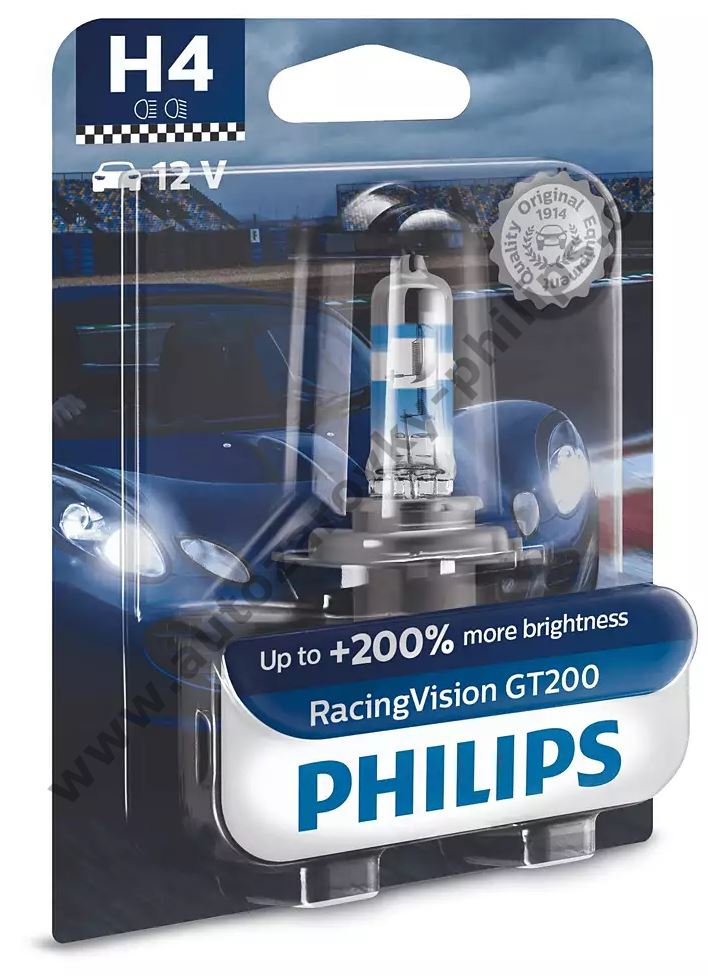 Philips Racing Vision GT200 12342RGTB1 H4 P43t-38 12V 60/55W