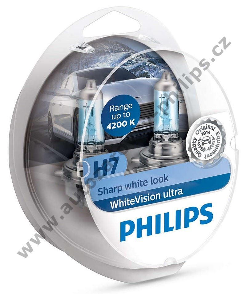 Philips WhiteVision Ultra H7 12V 55W 12972WVUSM