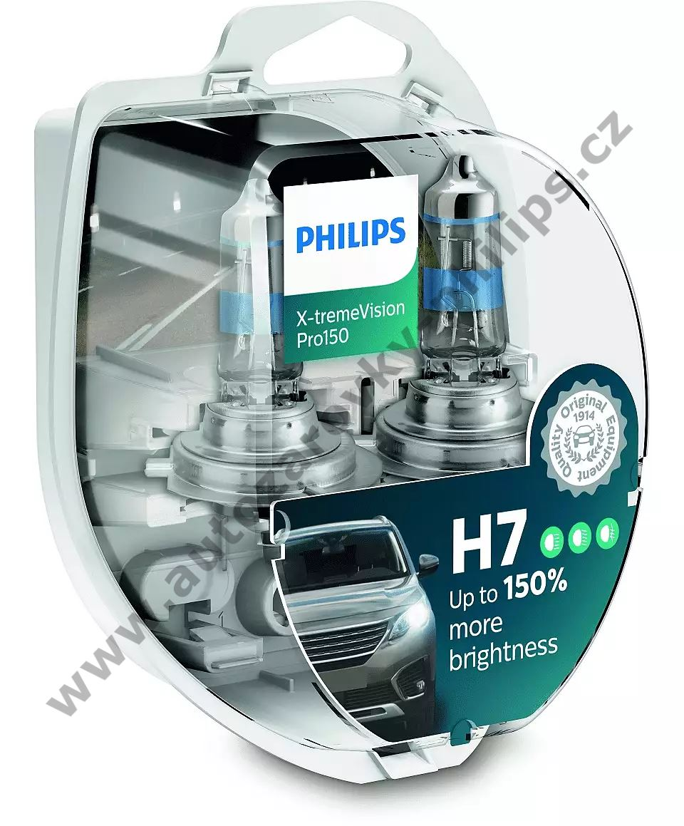 Philips X-tremeVision Pro150 12972XVPS2 H7 PX26d 12V 55W