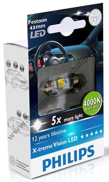Autožárovka Philips LED Festoon 12V X-treme Vision